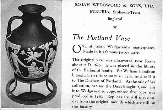 Wedgwood Series The Finished Work The Portland Vase And Wedgwood