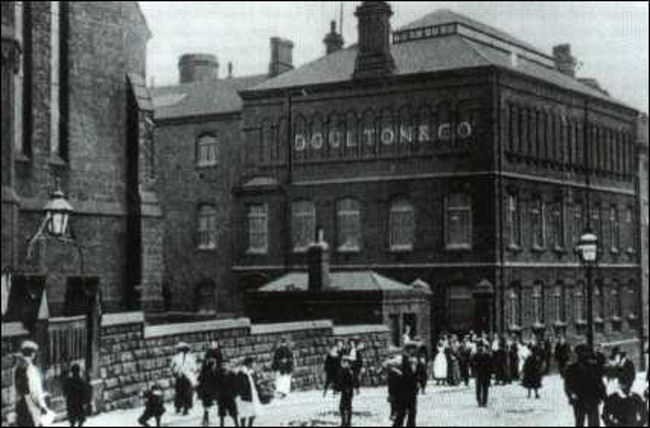 Home Time: postcard of the works c1900