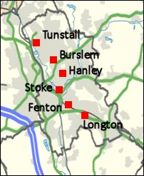 Map Of England With Counties And Major Cities.All About Stoke On Trent In 5 Minutes