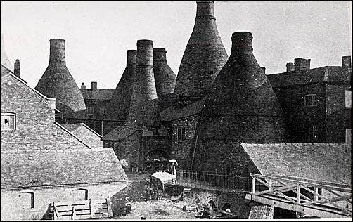 Bottle kilns at the Spode works c.1900-1930