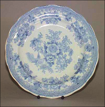 Hines Bros plate in the Asiatic Pheasants pattern