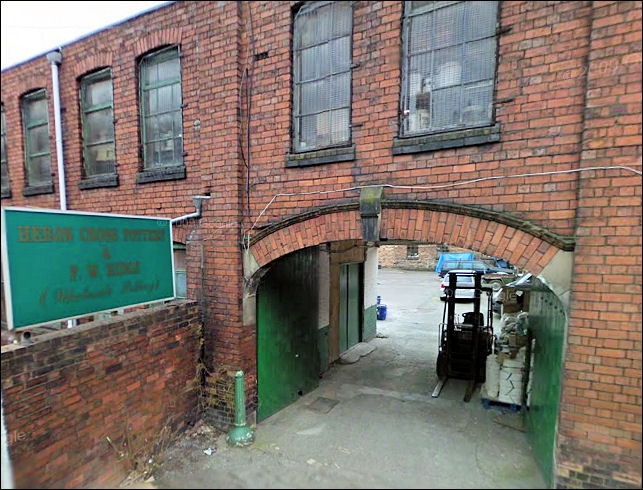 entrance to Heron Cross Pottery from Hines Street (originaly Gordon Street)