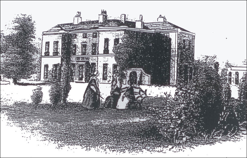 Longport Hall in 1843 - after enlargement by Henry Davenport