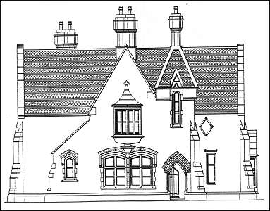 Front elevation of the Registrars House on Cemetery Street