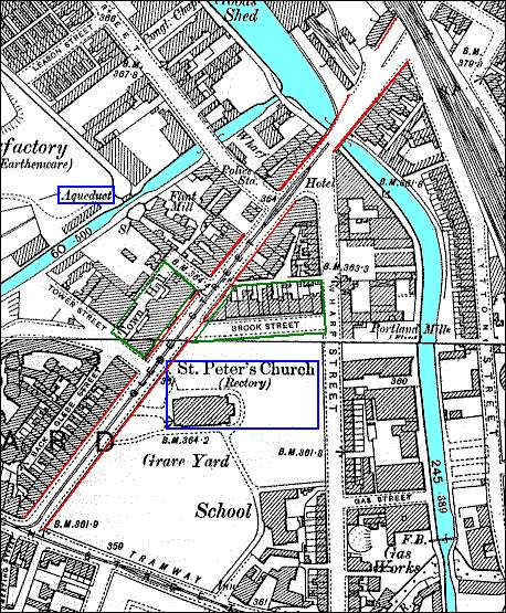 1898 Ordnance Survey Map of Glebe Street area