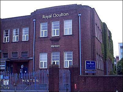 Minton effectively merged with Royal Doulton in 1968