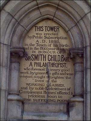 inscription on the Tower, Tunstall