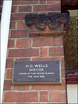H. G. Wells, writer, stayed in this house during the year 1888