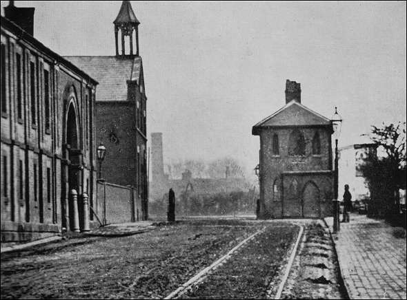 Waterloo Road - Cobridge - showing the toll booth c.1870