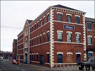 Aynsley's Portland Works in Sutherland Road, Longton