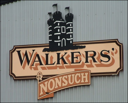 Walker's Nonsuch Toffee with the castle logo