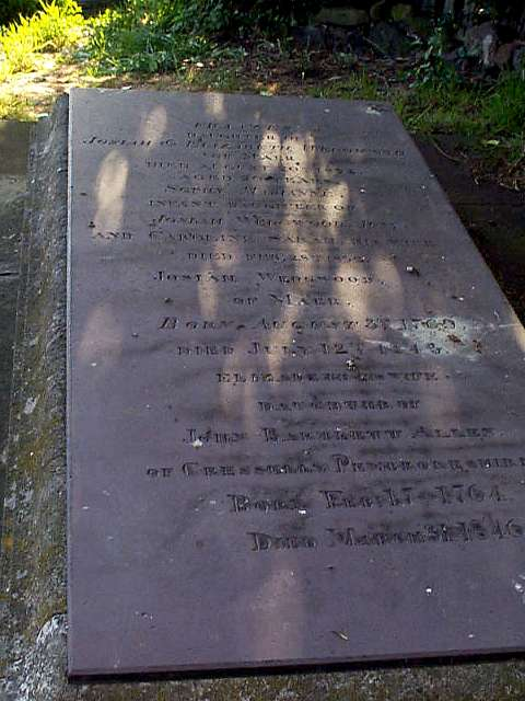 The grave of Josiah Wedgwood II
