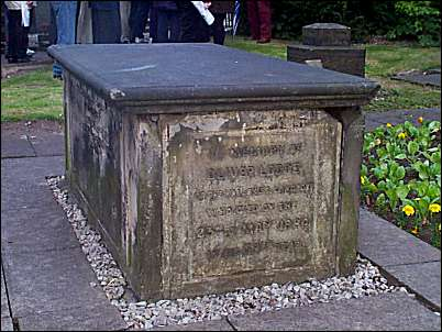 The tomb of Sir Oliver Lodge's parents in St. Thomas Church Yard, Penkhull