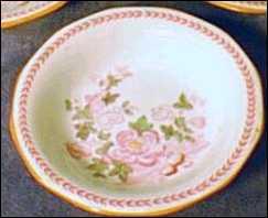 Example of Adams Ware Dark Blue Roses Background