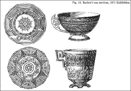 Fig 18. Barlow's tea services, 1871 Exhibition