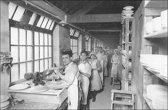 flatware shop - plates are made on a 'jigger'