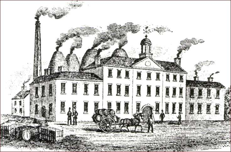 a print of the Greengates Works in the 1780's